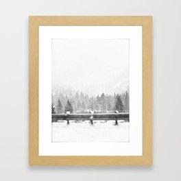 WHITEOUT. Framed Art Print