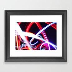 Lightpainting abstract Framed Art Print