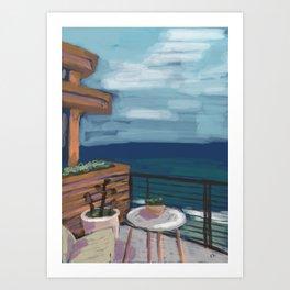 Little Beach House Art Print