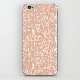 Fancy calligraphy iPhone Skin