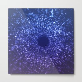 Sci Fi Abstract Outer Space Universe  Mystic Blue Metal Print