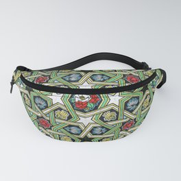 8-fold Rosettes with Flowers Fanny Pack