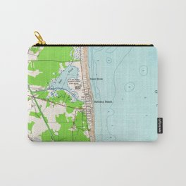 Vintage Map of Bethany Beach Delaware (1954) Carry-All Pouch