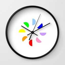 Chromatic circles Wall Clock