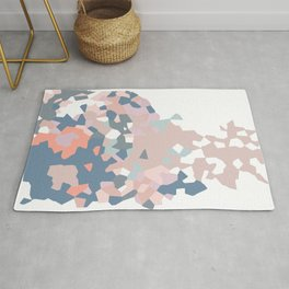 love the world to pieces pinks and grays Rug