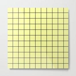 Yellow Grid Metal Print