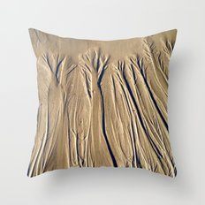 The Forest In The Sand Throw Pillow