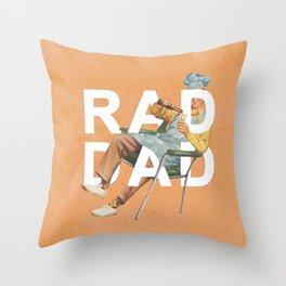 Rad Dad Throw Pillow