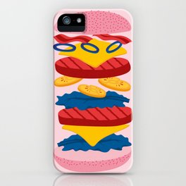 Double Cheeseburger. iPhone Case