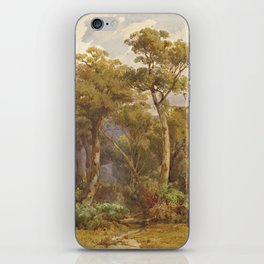 Louis Buvelot - Yarra flats (1871) iPhone Skin