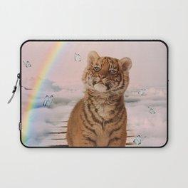 A tiger on the Rainbow Bridge Laptop Sleeve