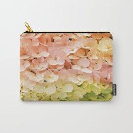 Delicate Pastel Multicolor Hydrangea Carry-All Pouch