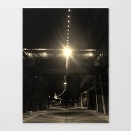 Alley Lights  Canvas Print