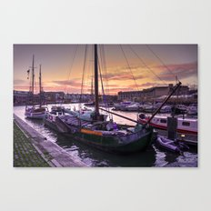 Bristol Harbour Sunset Canvas Print