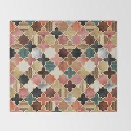 Twilight Moroccan Throw Blanket