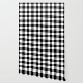 Gingham (Black/White) Wallpaper
