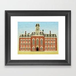 College Hall Framed Art Print