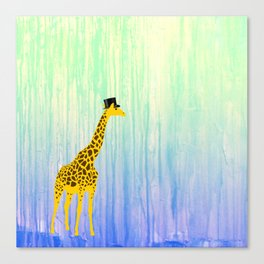 Dapper Giraffe Canvas Print