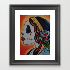 Fiery Deadhead Framed Art Print