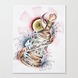 Love in a bottle Canvas Print