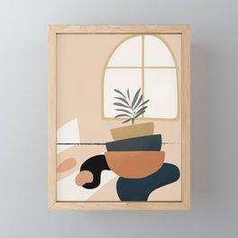 Plant in a Pot Framed Mini Art Print