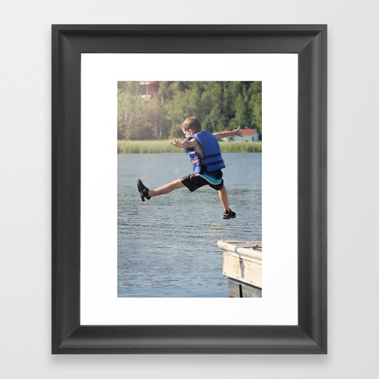 Harry Leaps! Framed Art Print