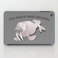 walrus iPad Cases featuring Walrus Whiskers by mailboxdisco