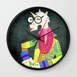 Iris the Unicorn of Fashion Wall Clock
