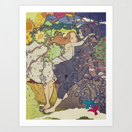Hades and Persephone Art Print