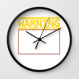 Warning Tells Dad Jokes At Random Wall Clock