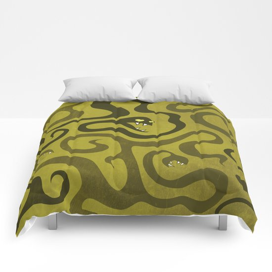 Funny Cartoon Evil Snakes Comforters