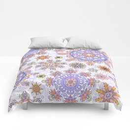 Floral pattern with stylized snowflakes. Christmas winter snow theme pattern. Comforters