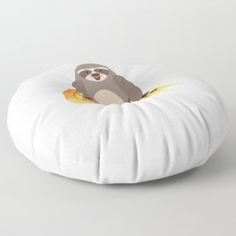 Cute and Funny Pizza Riding Sloth Floor Pillow