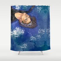 clear Shower Curtains featuring CLEAR by Dash of noir