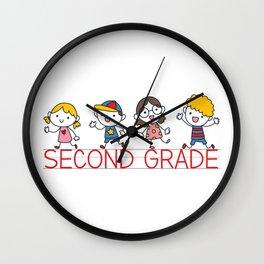 Second Grade School Wall Clock