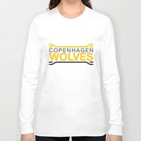 copenhagen Long Sleeve T-shirts featuring Copenhagen Wolves by Thomas Official