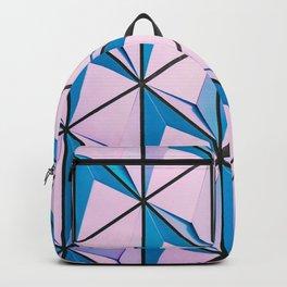 Pink Blue Geometric Triangle Pattern Backpack