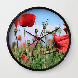 poppy flower no13 Wall Clock