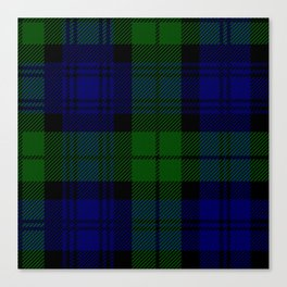 Scottish Campbell Tartan Pattern-Black Watch #2 Canvas Print