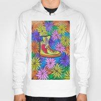 sneaker Hoodies featuring SNEAKER OF PEACE AND LOVE by Manuel Estrela 113 Art Miami