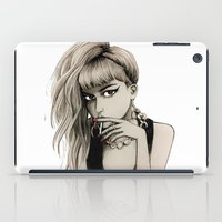 grimes iPad Cases featuring Grimes by Justine Lecouffe