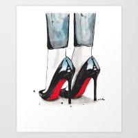 paris Art Prints featuring Cloudy In Paris by anna hammer