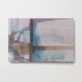 Purple Stroke Metal Print
