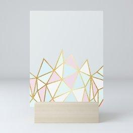 Gold & Pastel Geometric Pattern Mini Art Print
