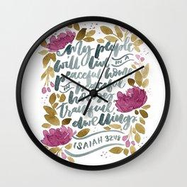 Isaiah :18 Wall Clock