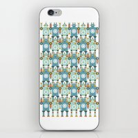 robots iPhone & iPod Skins featuring robots by Mr. Morris can Meow!