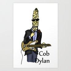 Cob Dylan Art Print