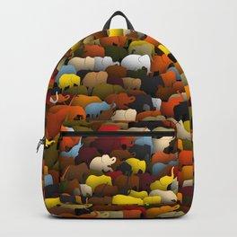 Elephants go left Backpack