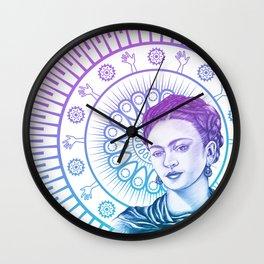 Frida Kahlo Feminist Bravery Wall Clock
