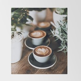 Latte Throw Blanket